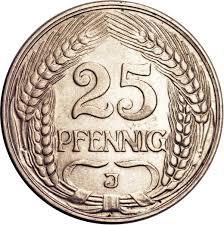 25 Pfennigs
