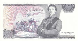 five pound banknotes